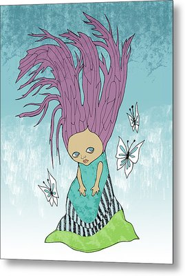 Hair Is A Tree Metal Print by Lindsey Cormier