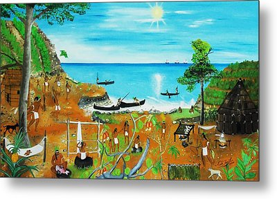 Haiti 1492 Before Christopher Columbus Metal Print by Nicole Jean-Louis