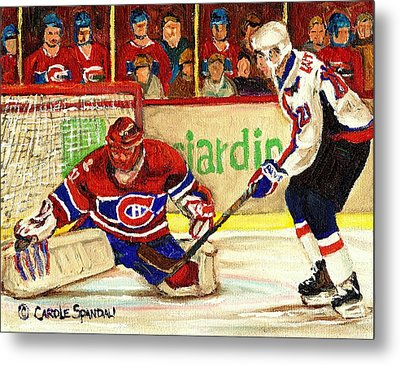 Halak Makes Another Save Metal Print by Carole Spandau