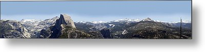 Half Dome Panorama Metal Print by Bransen Devey