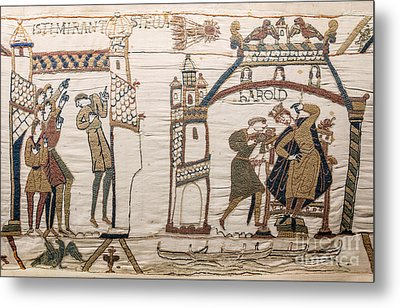 Halleys Comet Of 1066, Bayeux Tapestry Metal Print by Science Source