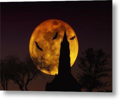 Halloween Moon Metal Print by Bill Cannon