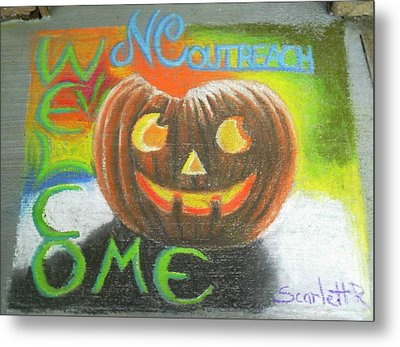 Halloween Ncohc Welcome Metal Print by Scarlett Royal