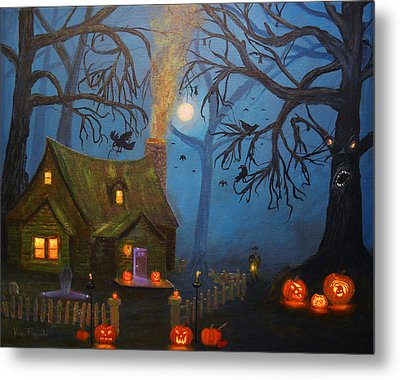 Halloween Night Metal Print by Ken Figurski