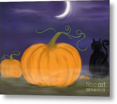 Halloween Night Metal Print by Roxy Riou
