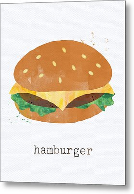 Hamburger Metal Print by Linda Woods
