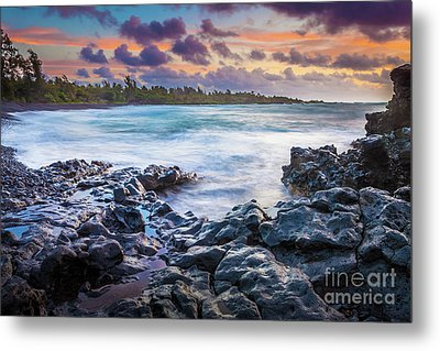 Hana Bay Rocky Shore #1 Metal Print by Inge Johnsson