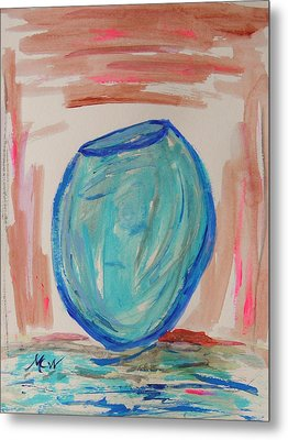 Hand Thrown Metal Print by Mary Carol Williams