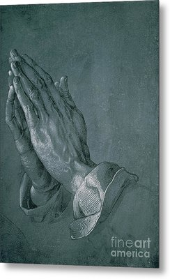 Hands Of An Apostle Metal Print by Albrecht Durer
