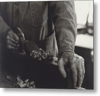 Hands Of Shaker Brother Ricardo Belden Metal Print by Everett