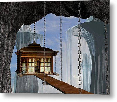 Hanging House Metal Print by Cynthia Decker