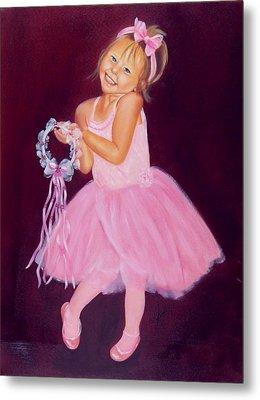 Happy Ballerina Metal Print by Joni McPherson
