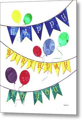 Happy Birthday Flag Metal Print by Debbie DeWitt