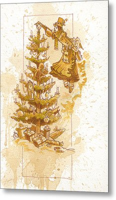 Happy Christmas Metal Print by Brian Kesinger