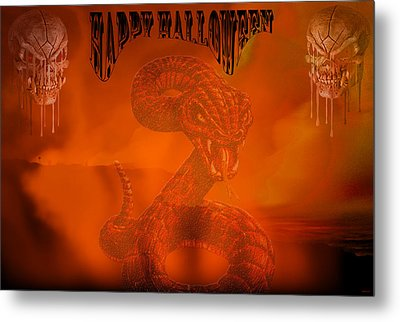 Happy Halloween 2 Metal Print by Evelyn Patrick
