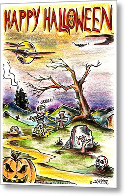 Happy Halloween Metal Print by James Sayer