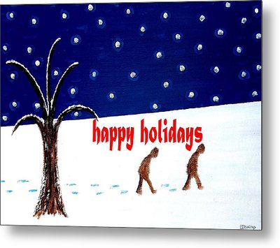 Happy Holidays 5 Metal Print by Patrick J Murphy