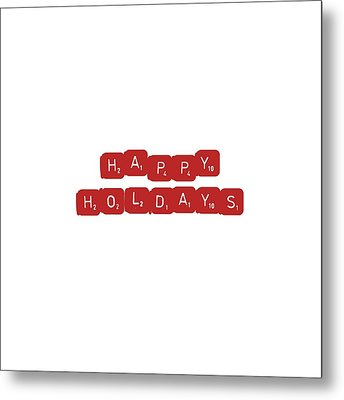 Happy Holidays Metal Print by Rosemary OBrien