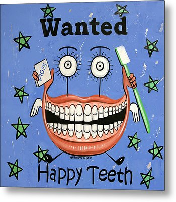 Happy Teeth Metal Print by Anthony Falbo