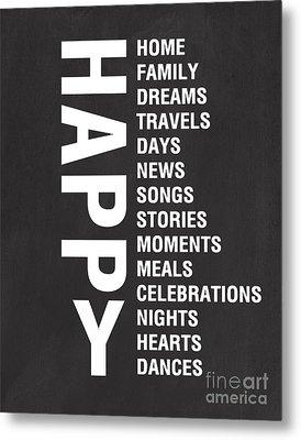 Happy Things Metal Print by Linda Woods