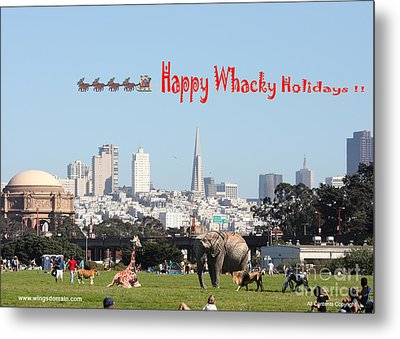 Happy Whacky Holidays Metal Print by Wingsdomain Art and Photography