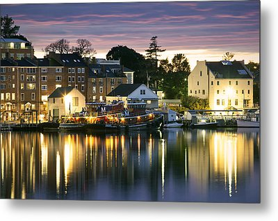 Harbor Lights Metal Print by Eric Gendron