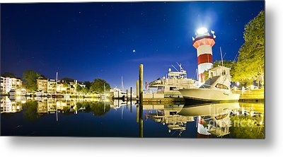 Harbor Town Yacht Basin Light House Hilton Head South Carolina Metal Print by Dustin K Ryan