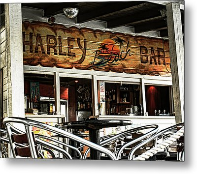 Harley Beach Bar Metal Print by Jasna Buncic
