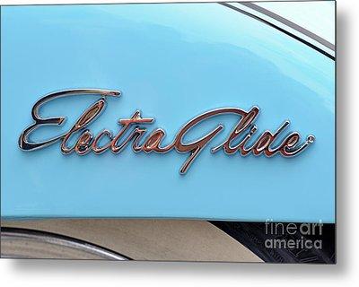 Harley-davidson Electra Glide Badge Metal Print by George Atsametakis