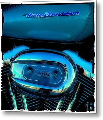 Harley Sportster 1200 Metal Print by David Patterson