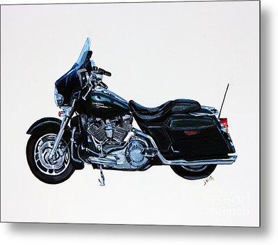Harley Davidson Street Glide Metal Print by Janet Felts