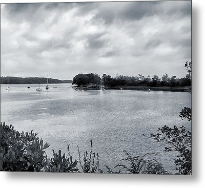Harpswell, Maine 1bw Metal Print by Sandy Taylor