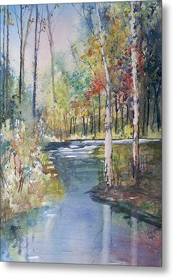 Hartman Creek Birches Metal Print by Ryan Radke