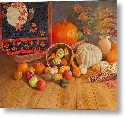 Harvest Bounty Metal Print by Nancy Lee Moran