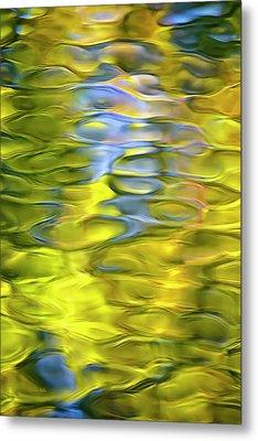 Harvest Gold Mosaic Metal Print by Christina Rollo