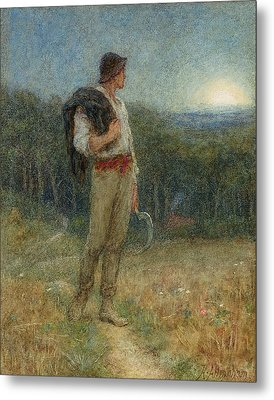 Harvest Moon Metal Print by Helen Allingham