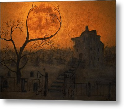 Harvest Moon Metal Print by Ken Figurski