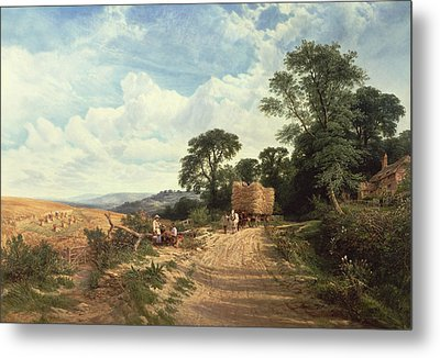 Harvest Time Metal Print by George Vicat Cole