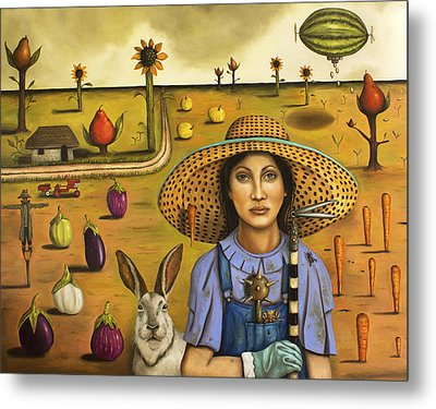 Harvey And The Eccentric Farmer Metal Print by Leah Saulnier The Painting Maniac