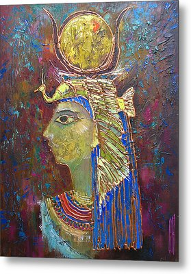Hathor. Goddess Of Egypt Metal Print by Valentina Kondrashova