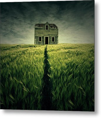 Haunted House Metal Print by Zoltan Toth