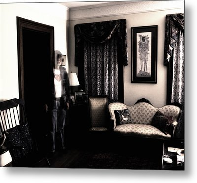 Haunting Myself Metal Print by Ross Powell