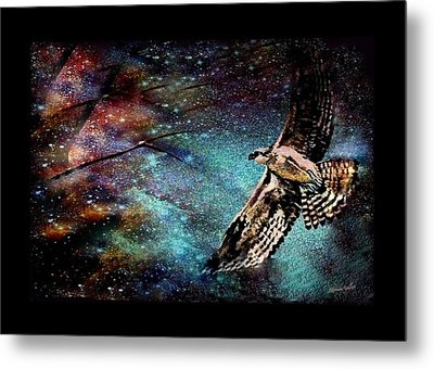 Hawk At Night Metal Print by YoMamaBird Rhonda