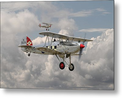 Hawker Fury Metal Print by Pat Speirs