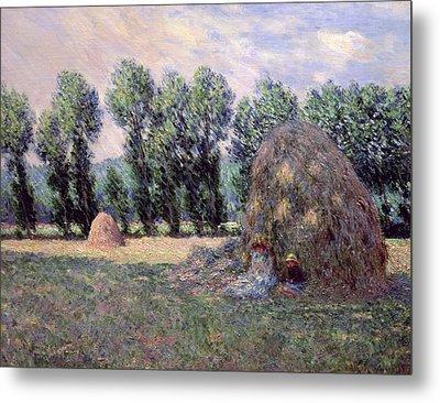 Haystacks Metal Print by Claude Monet