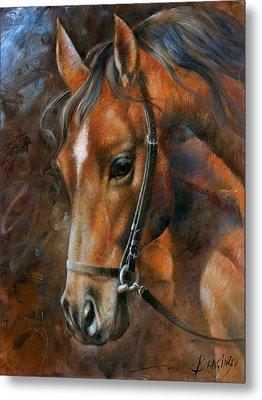 Head Horse Metal Print by Arthur Braginsky