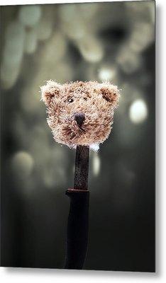 Head Of A Teddy Metal Print by Joana Kruse