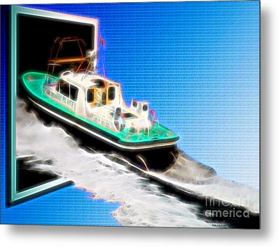 Heading Back To Sea Metal Print by Sue Melvin