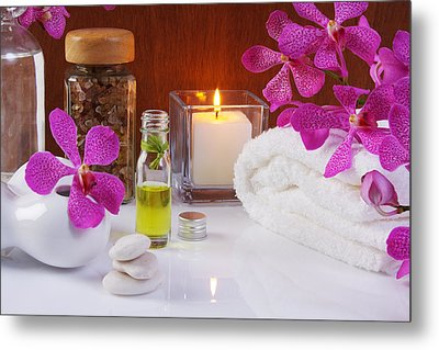 Health Spa Concepts  Metal Print by Atiketta Sangasaeng