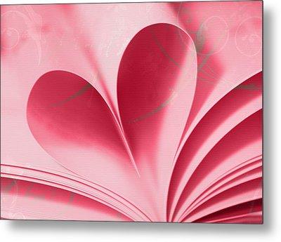 Heart A Flutter Metal Print by Rebecca Cozart